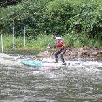 Lisa Boore on the whitewater
