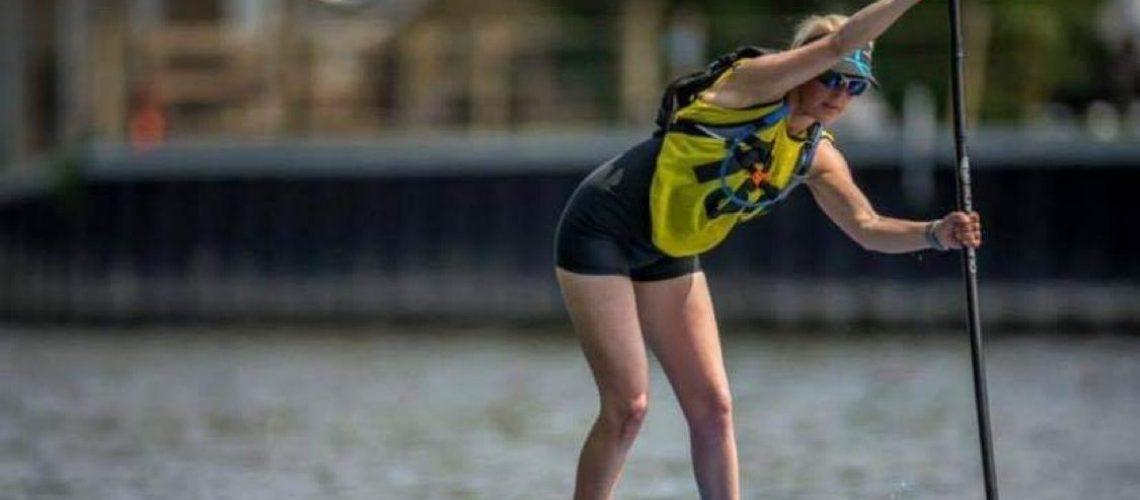 Emily King SUP racing