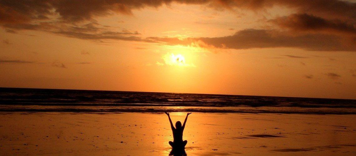 beach, yoga, meditation