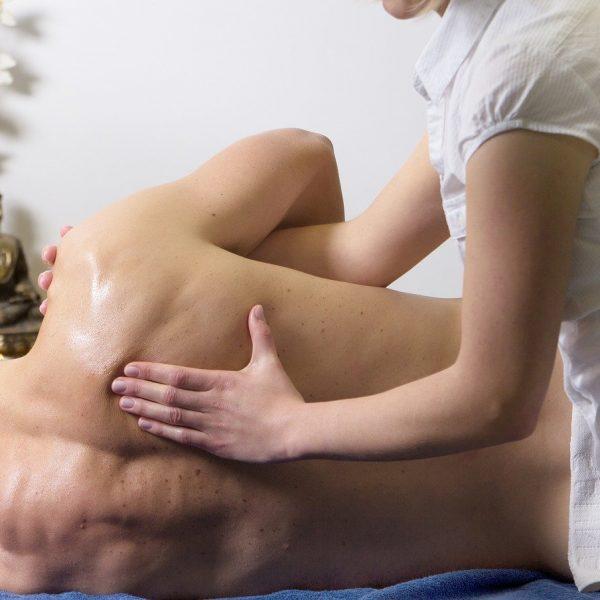 massage, shoulder, human